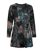 Abstract Art Mixed Media Tunic, Multi, original image number 0