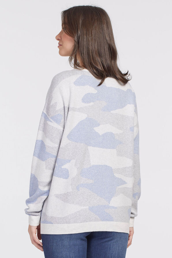 Cool-Cotton Camouflage Sweatshirt, Blue, original image number 2