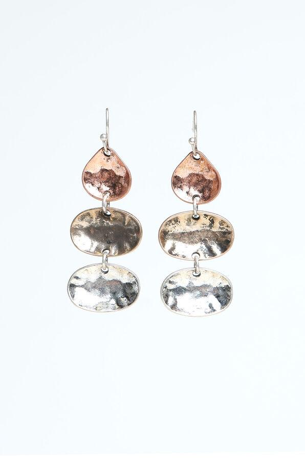 3 Tone Earrings, Multi, original image number 0