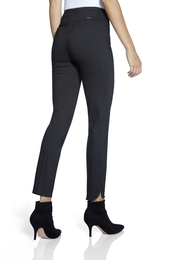 UP Petal Hem Ankle Pant, Black, original image number 2
