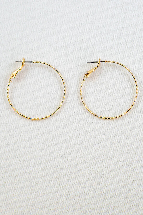 Diamond Cut Hoops, , original image number 1