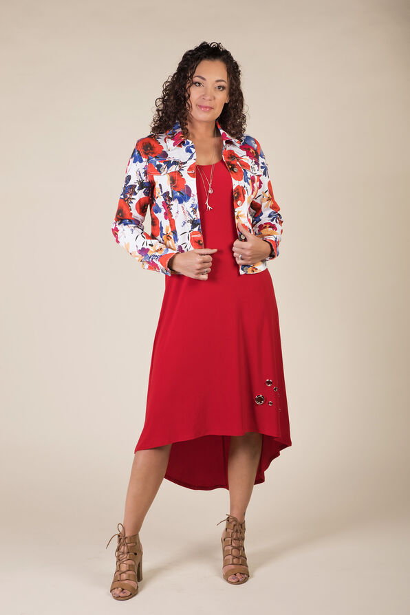 Poppy Denim Jacket, Coral, original image number 2