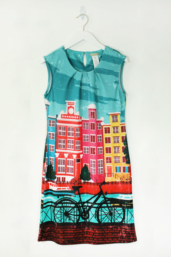Cycle in the City Dress, Multi, original image number 0