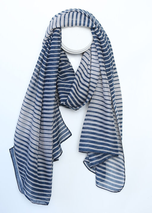 Ripple Striped Fashion Scarf, , original