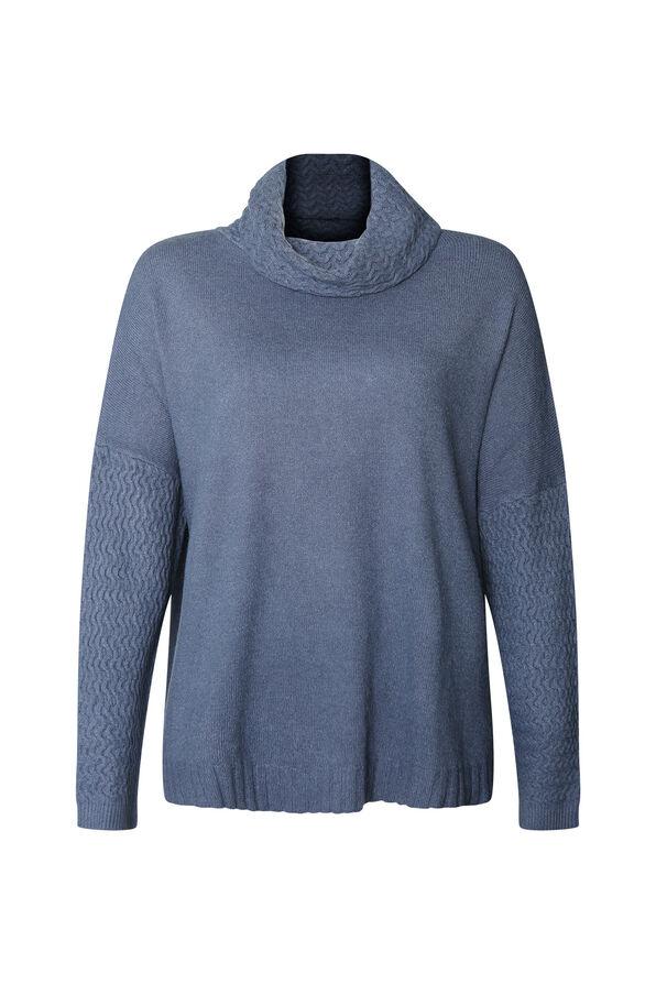 Imani Textured Cowl Neck Sweater, , original image number 1