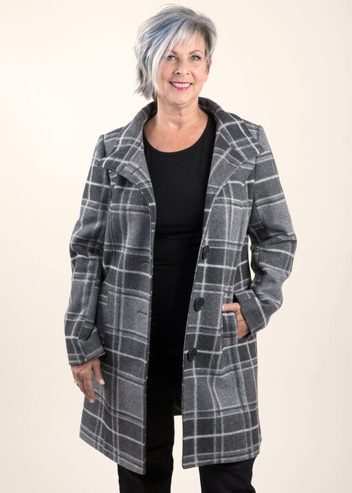 Brushed Faux Wool Coat, , original