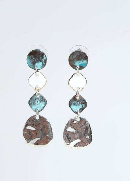 Turquoise Dangle Earrings, Silver, original