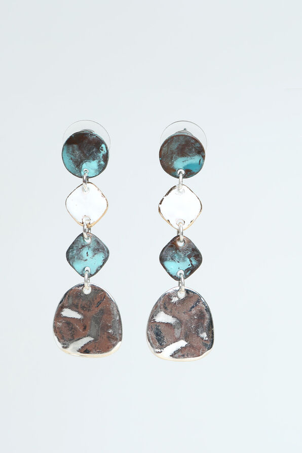 Turquoise Dangle Earrings, Silver, original image number 0