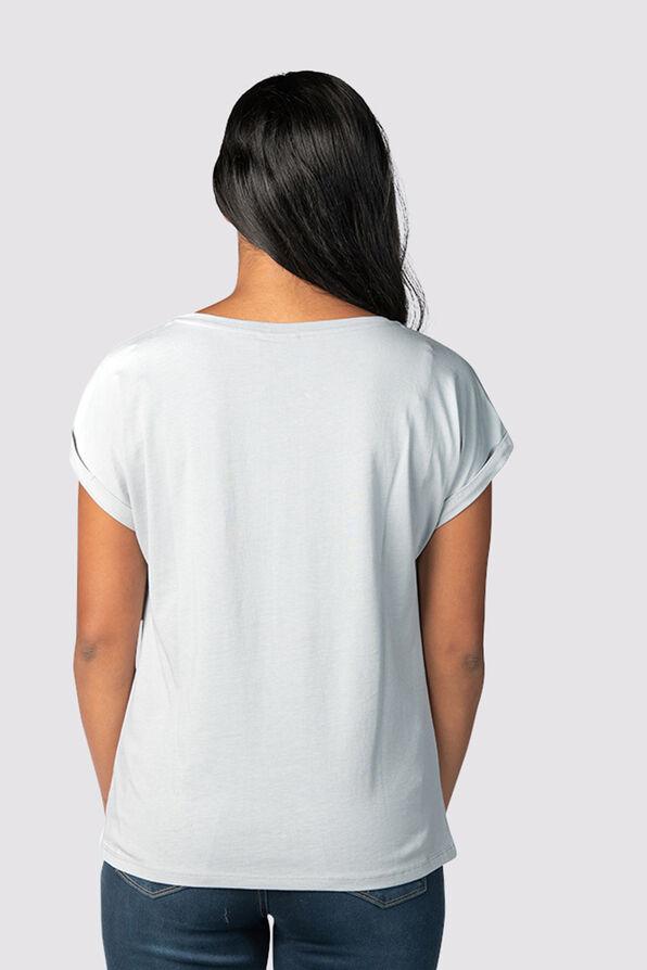 Multi-Metallic T-Shirt, Blue, original image number 2