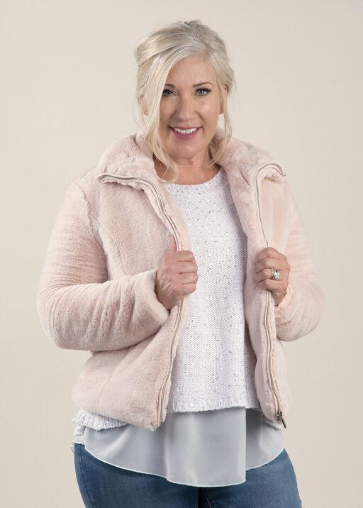 Blush Worthy Faux Fur Jacket, , original