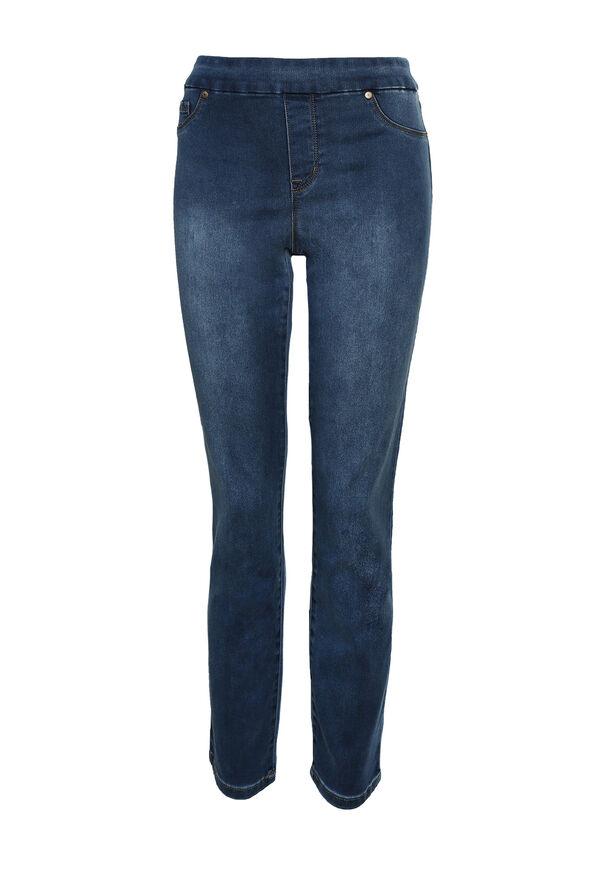 Pull On Denim Jean, , original image number 1