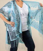 Perfect in Paisley Kimono, Turquoise, original image number 1