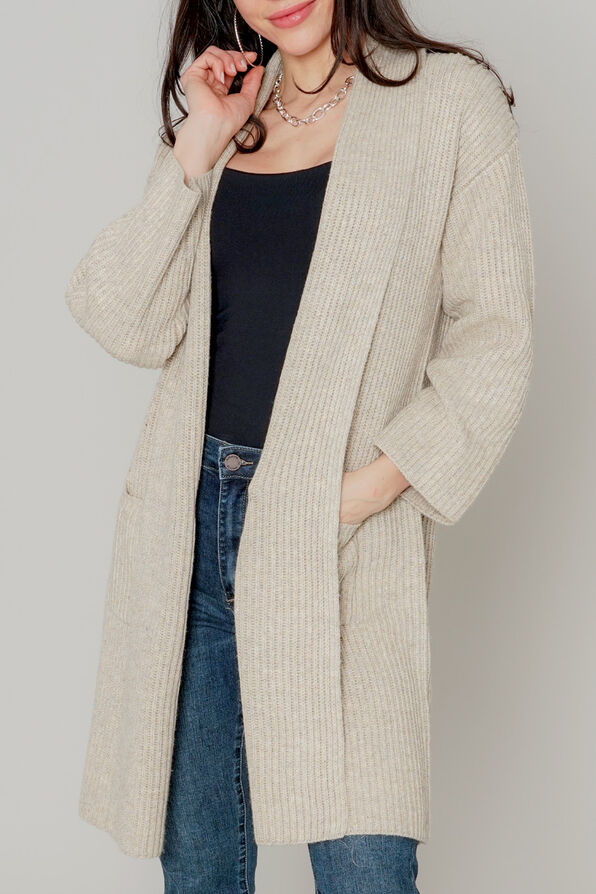 Sweetest Sweater Cardigan , Tan, original image number 0