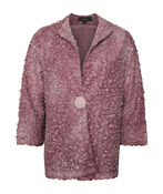 Boucle-Like Cardigan with 3/4 Sleeves, , original image number 1