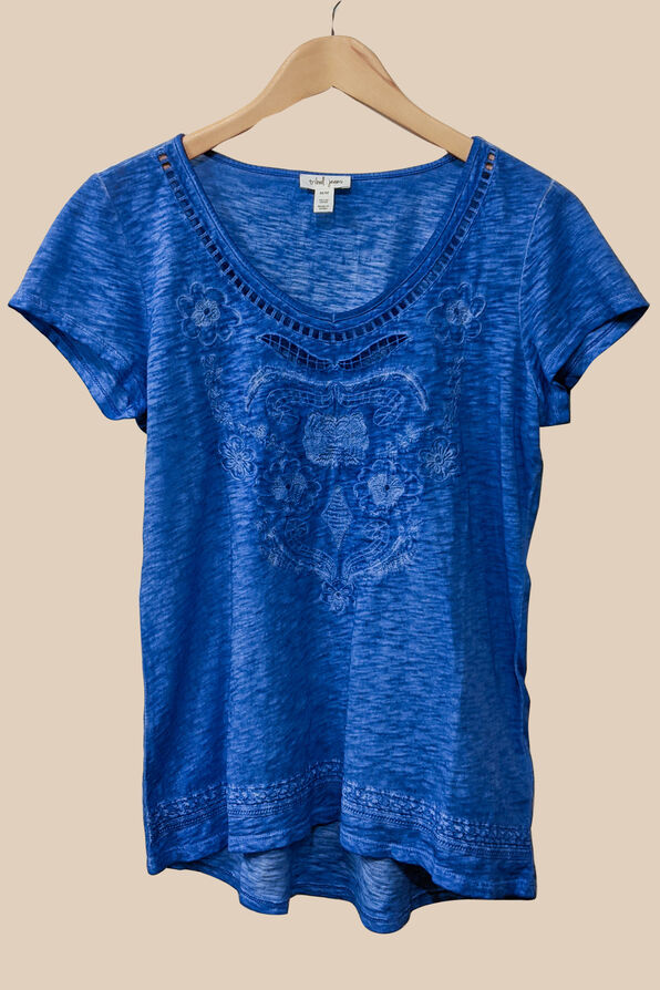 Embroidered Style Top, , original image number 3