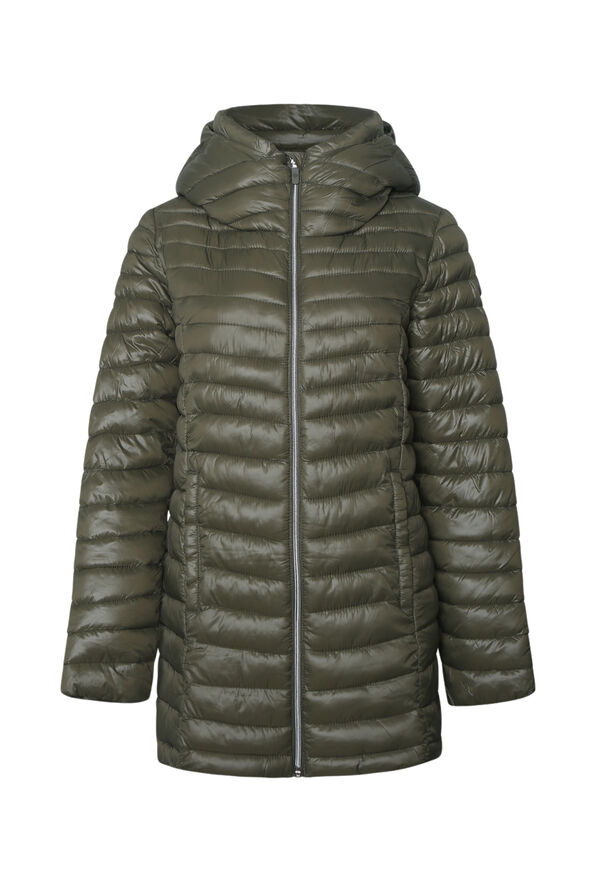 Long Slim Fit Ultralight Puffer Coat, , original image number 2