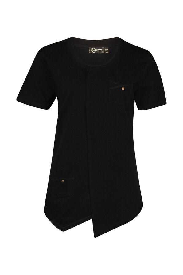 Asymmetrical Cross-Over T-Shirt, , original image number 0