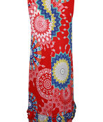 Sleeveless Medallion Print Swing Dress , Red, original image number 1