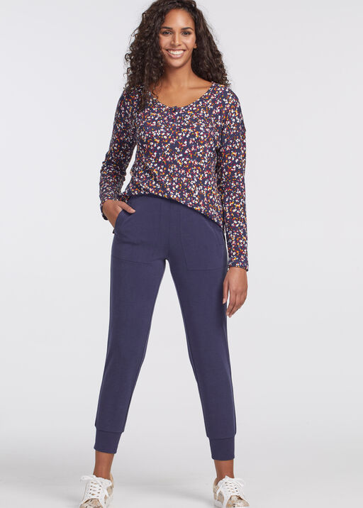 PULL ON ANKLE JOGGER WITH POCKETS, Navy, original