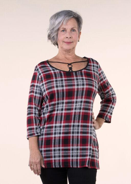 Plaid Knit Tunic , , original