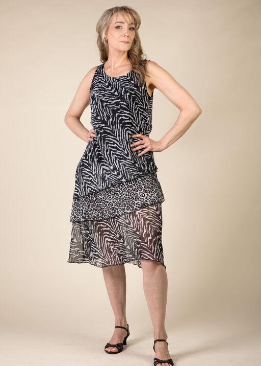 Zebra Print Maxi Dress, Black, original