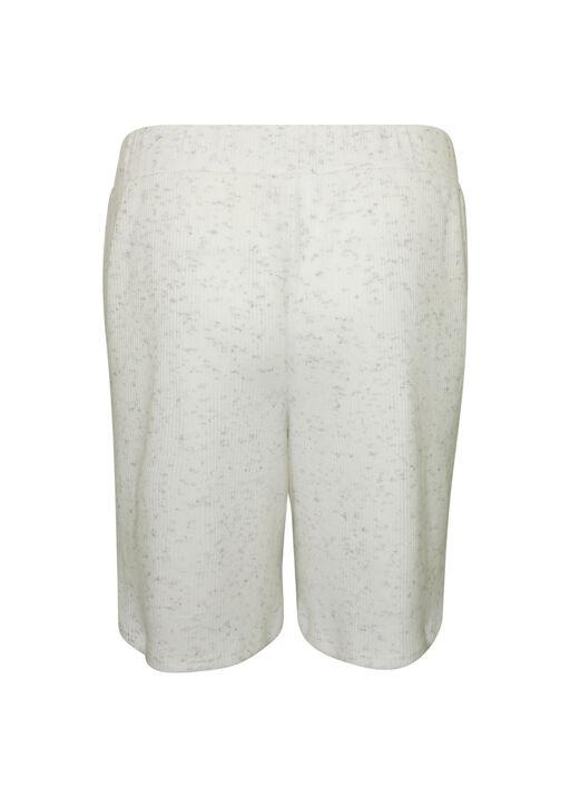 Pull-On Ribbed Knit Short, Ivory, original