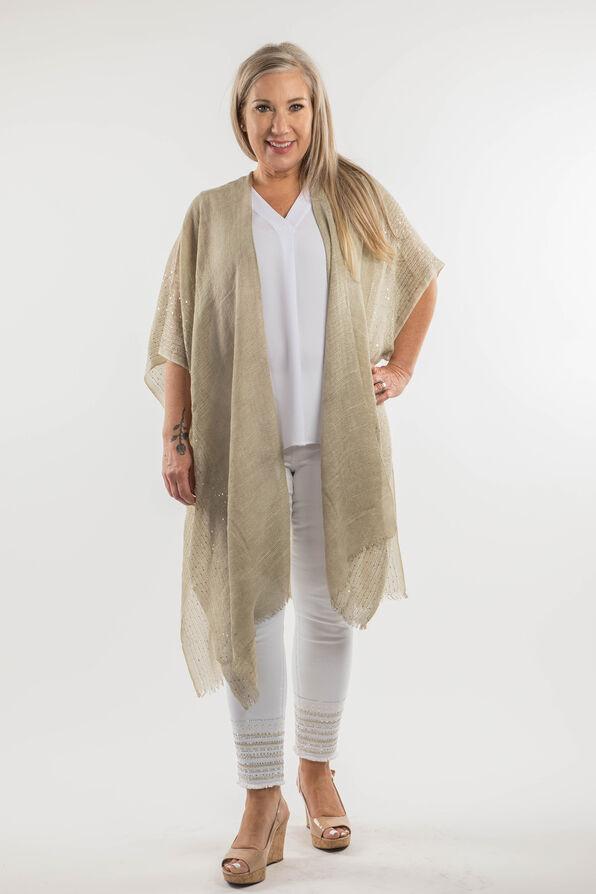 Cotton Kimono with Sequins, Sage, original image number 5