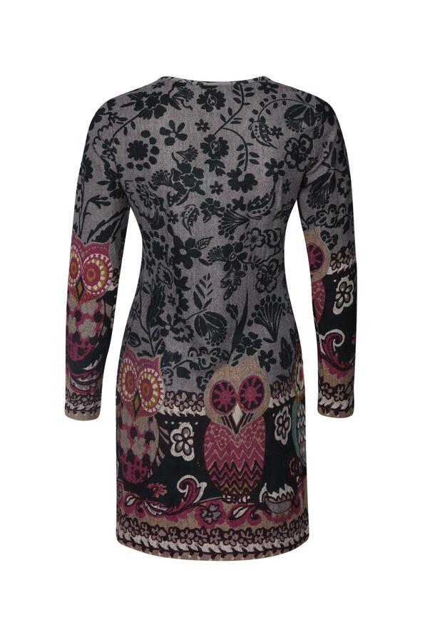 Owl Print Tunic, Lavender, original image number 1