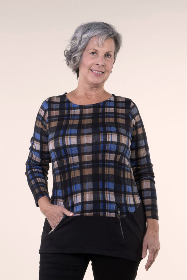 Tunic Top with Zip Pockets, , original image number 1
