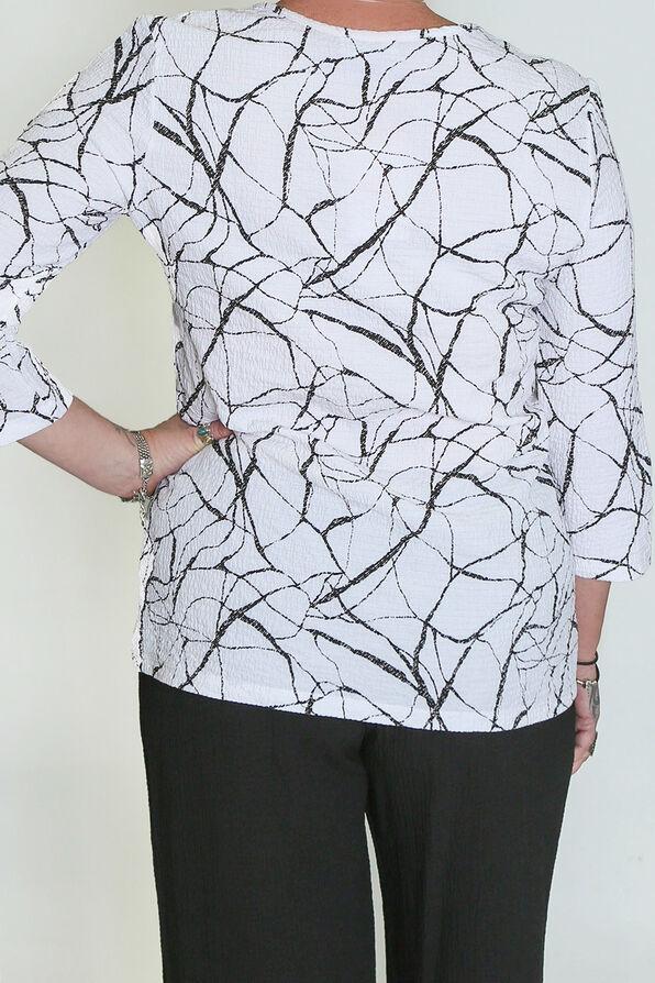Marbled Maven Top, White, original image number 1
