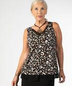 Leopard Lace Top, Black, original image number 1