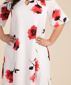 Poppy Impressions Dress, White, original image number 2
