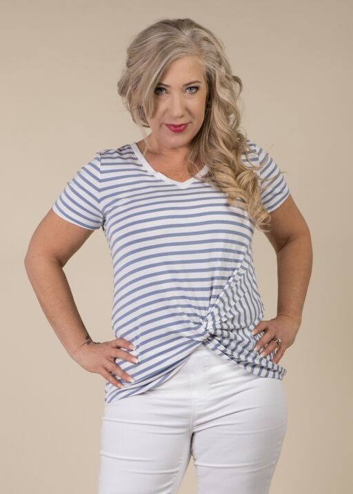 Knotted Striped Tee, , original