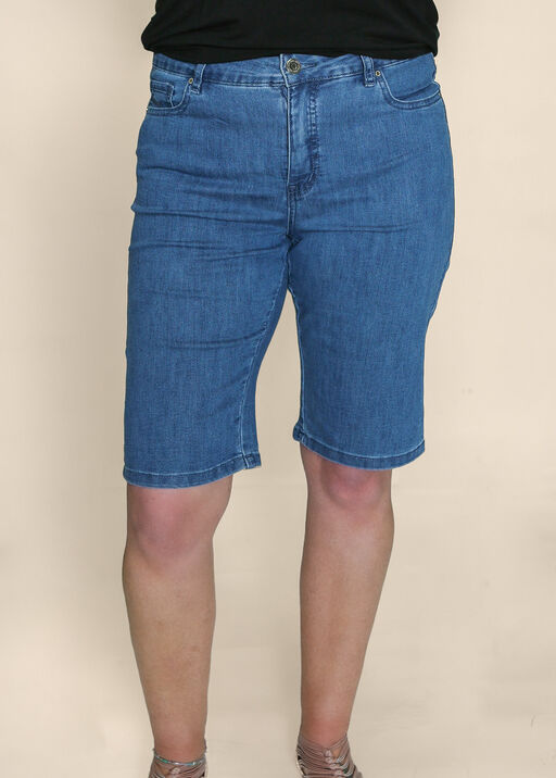 Embroidered Pocket Denim Shorts, , original