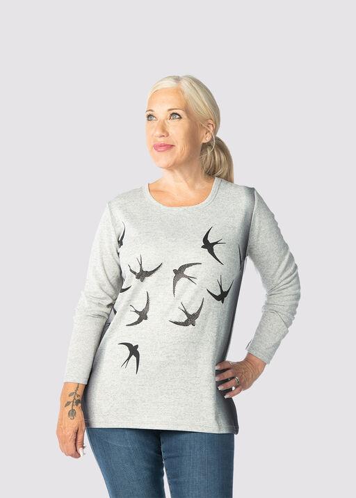 Birdie Top, Grey, original
