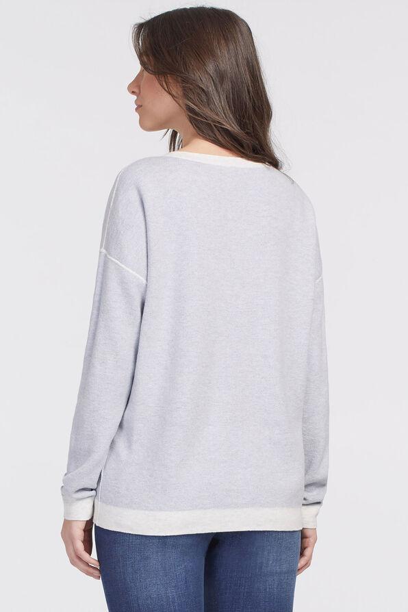 Cool-Cotton Camouflage Sweatshirt, Blue, original image number 3