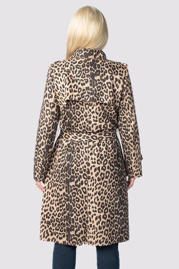Animal Suede Coat , Brown, original image number 2
