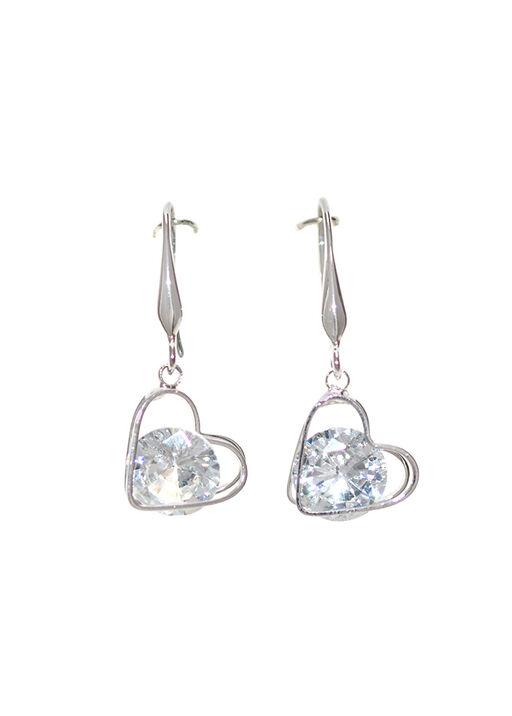 Falling Heart with Crystal Earrings, , original
