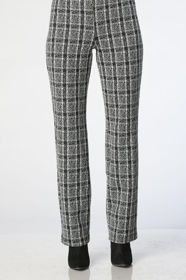 Georginna Plaid Pants, Black, original image number 0