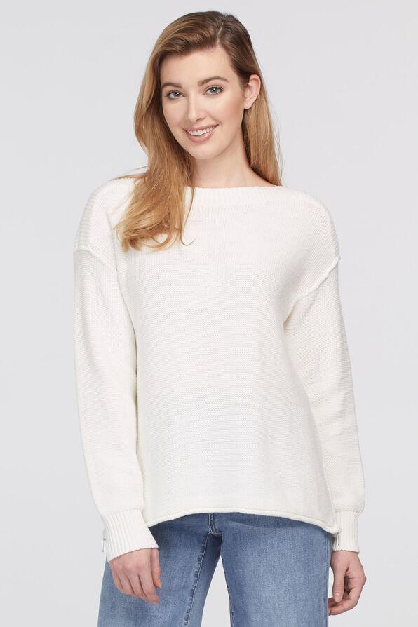 Sharlene Boatneck Sweater, Cream, original image number 0