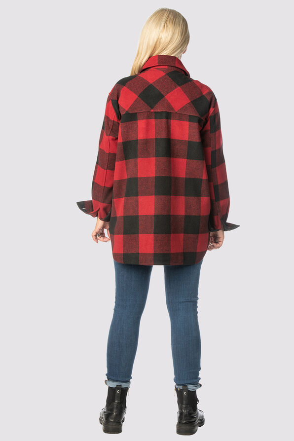 Suzanne's Plaid Shacket, Red, original image number 1