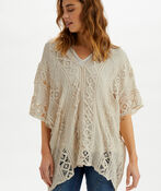 Crochet Bodilma Poncho, Cream, original image number 0