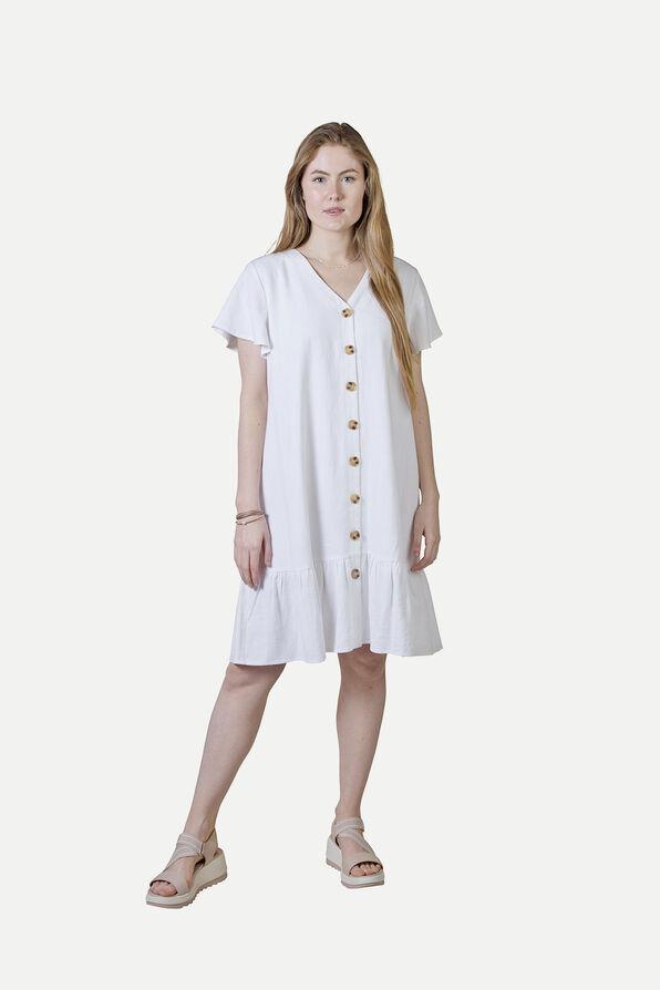 Flutter Sleeve Button Front Dress, , original image number 1