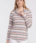 Pastel Lightweight Cowlneck Sweater, , original image number 1