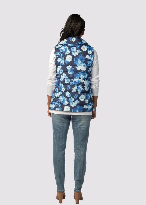Spring Floral Puffer Vest, Blue, original