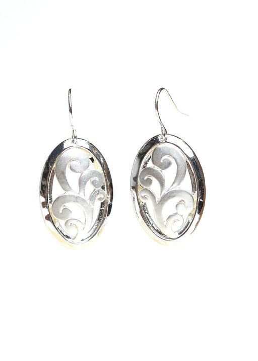 Oval Swirl Earrings, , original