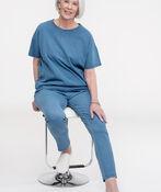 Pull On Ankle Length Leggings, Blue, original image number 1