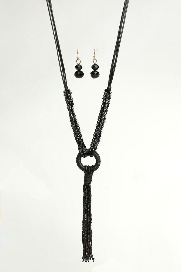 Speak Easy Necklace Set, Black, original image number 0