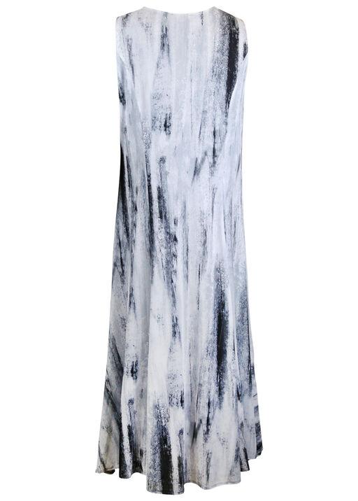 Sleeveless Midi Dress with Strappy Neckline, Grey, original