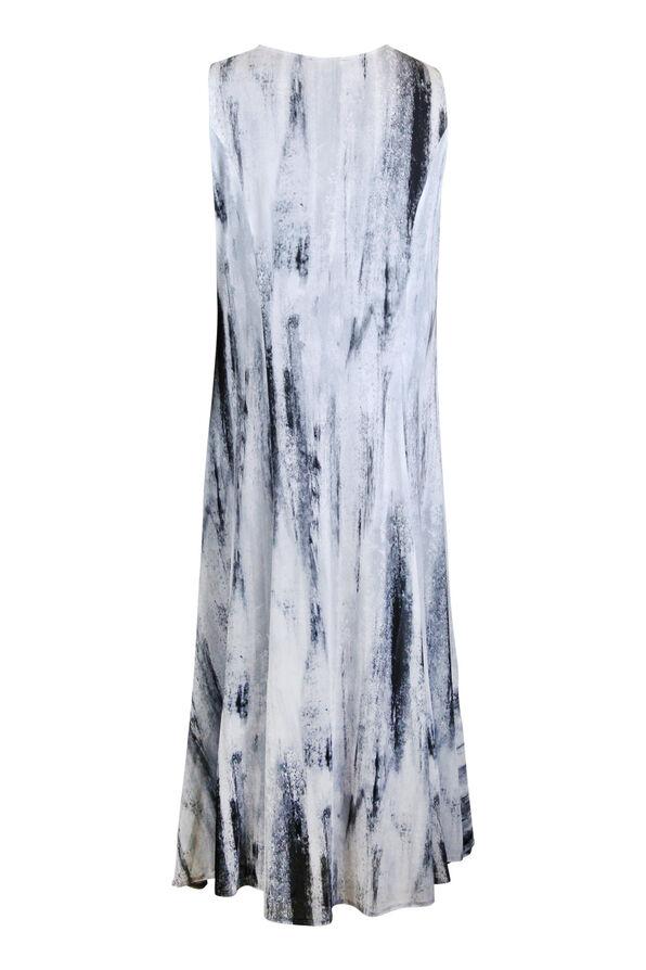 Sleeveless Midi Dress with Strappy Neckline, Grey, original image number 1